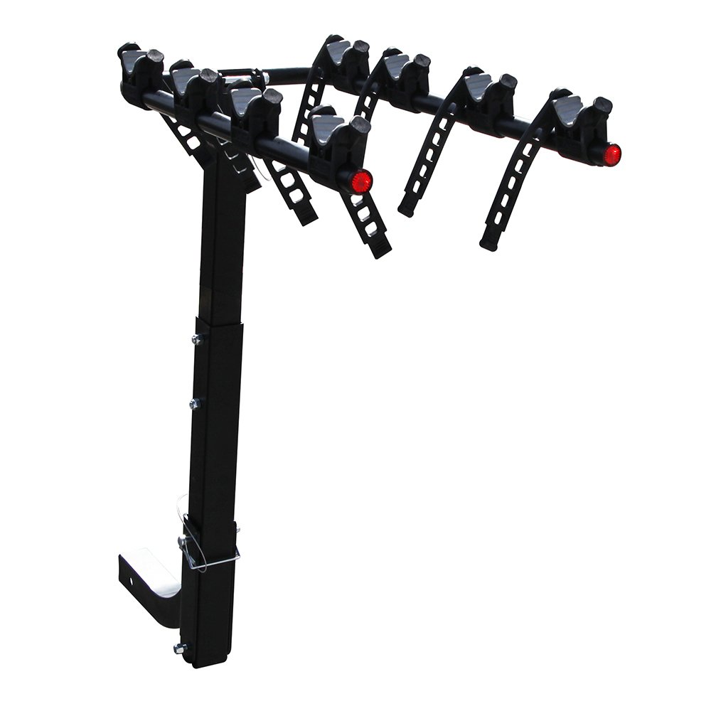 Masione 4-Bike Hitch Rack Mount Truck Bicycle Carrier Fits 2'' Hitch Receiver for most Sedans/Hatchbacks/Minivans and SUVs