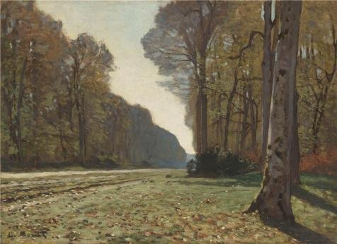 Oil Painting 'Le Pave De Chailly, 1865 By
