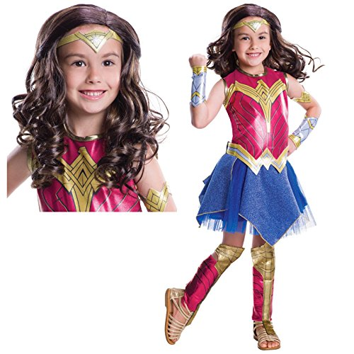 [Batman v Superman Child Costume Kit - Deluxe Wonder Woman - Medium] (Comic Book Costumes Girls)