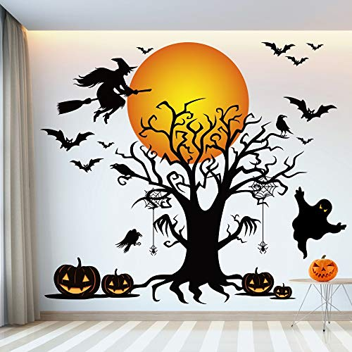 Halloween Wall Stickers - Halloween Party Wall Decoration, Perfect Cute Addition to Indoor and Outdoor Walls Bedrooms Office Garage Door, Awesome Backdrop for Halloween Party 45x65 inch