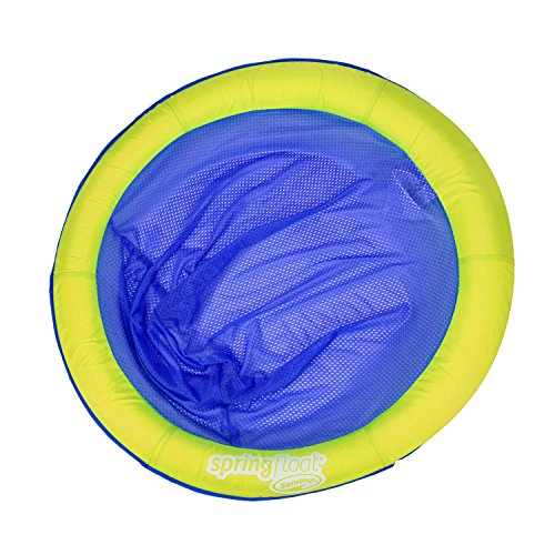 51MfZe66c%2BL - Swimways Spring Float Papasan Pool Chair, Lime / Dark Blue