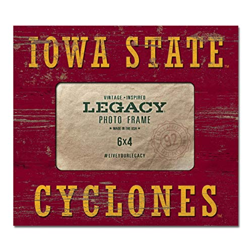 Custom NCAA Legacy Iowa State Cyclones 4 x 6 Picture Frame Center 8x9 One Size