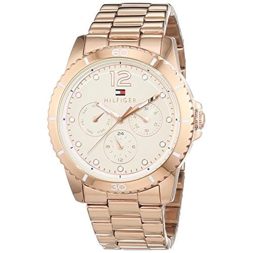 chollos oferta descuentos barato Tommy Hilfiger 1781584 Reloj de Pulsera analógico para Mujer Mecanismo de Cuarzo Revestido de Acero Inoxidable