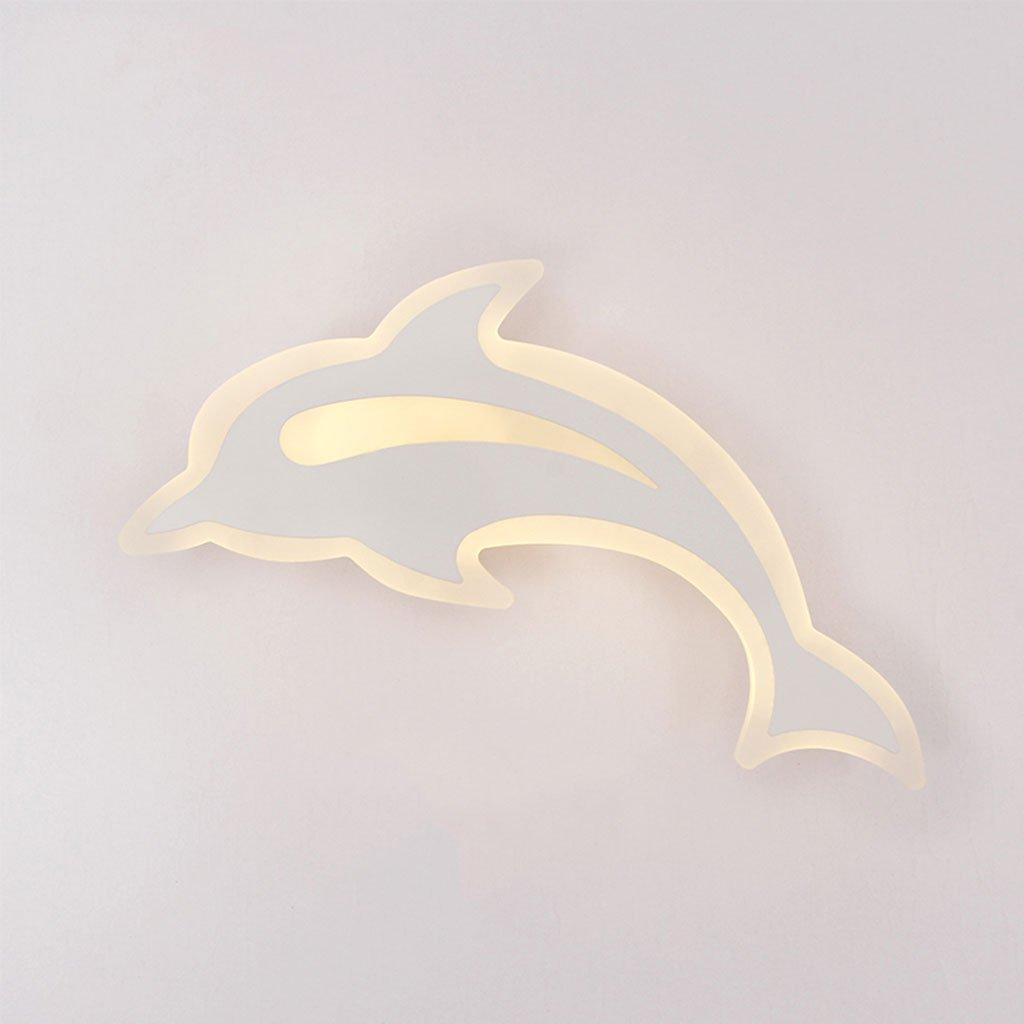 Unbekannt CHENGYI Wandlampe, Einfache Moderne Schlafzimmer LED Kreative Dolphin Wandleuchte Nacht Kinderzimmer Korridor Treppen Dekoration Nachtlichter