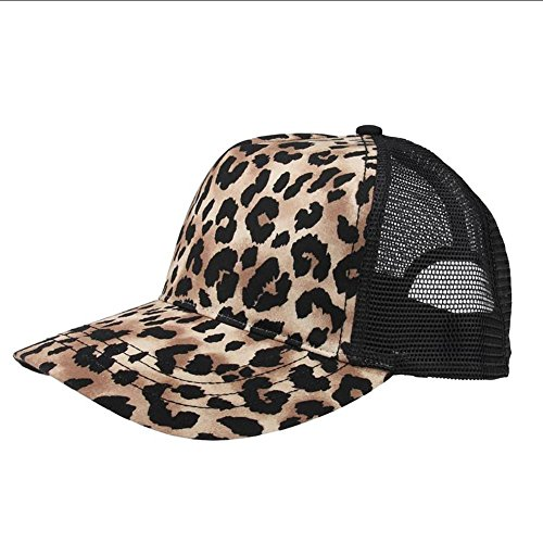 - MG Unisex Fashion Animal Print Trucker Cap-6885-BROWN