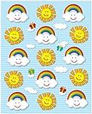 Carson Dellosa Suns and Rainbows Shape Stickers (168024)