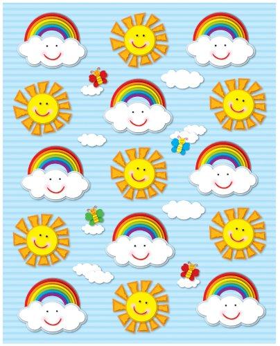 Carson Dellosa Suns and Rainbows Shape Stickers - Of Rainbow Shape