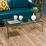Great Deal Furniture Classon Glass Rectangle Coffee Table For Sale