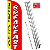 Vista Flags Breakfast (Served All Day) Windless Feather Banner Flag Kit (Flag, Pole, Ground Mt) Review