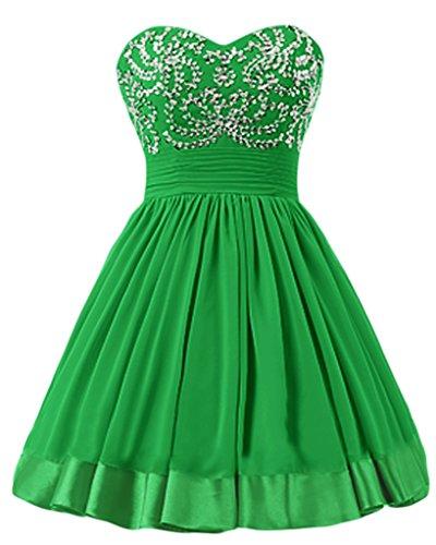 sunvary a-line Sweetheart Cuello Vestido De Cóctel vestidos de Homecoming corto Verde