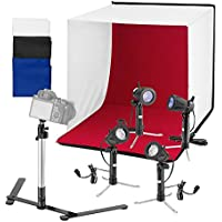Square Perfect 24 Folding Photo Box Tent LED Light Table Top Photography Studio