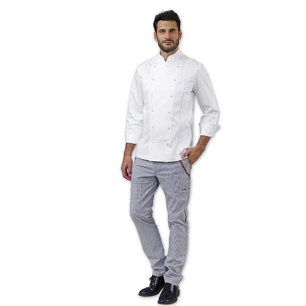 Giacca Cuoco Chef SIGGI Trinity Bianco Tre Taglie in Una  Amazon.it   Abbigliamento a80a8d0e06e3