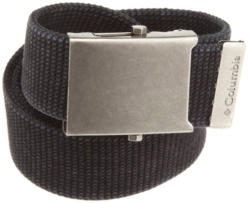 Canvas Belt (Columbia Men's Military-Style Belt, Black, One)