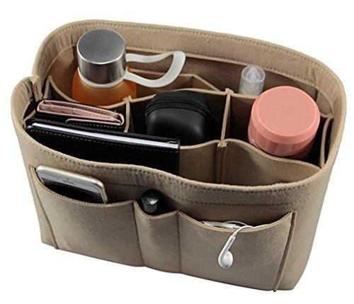 ETTP Felt Fabric Purse Handbag Organizer Bag - MultiPocket Insert Bag, Medium, (Pocket Handbag Organizer)