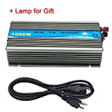 iMeshbean Premium 1000 Watts Grid Tie Inverter MPPT Pure Sine Wave for Solar Panel System 10.8-30V / 22-45V Input to 90V-140V / 220V Output Stackable USA (DC 22V-50V TO AC 220V)