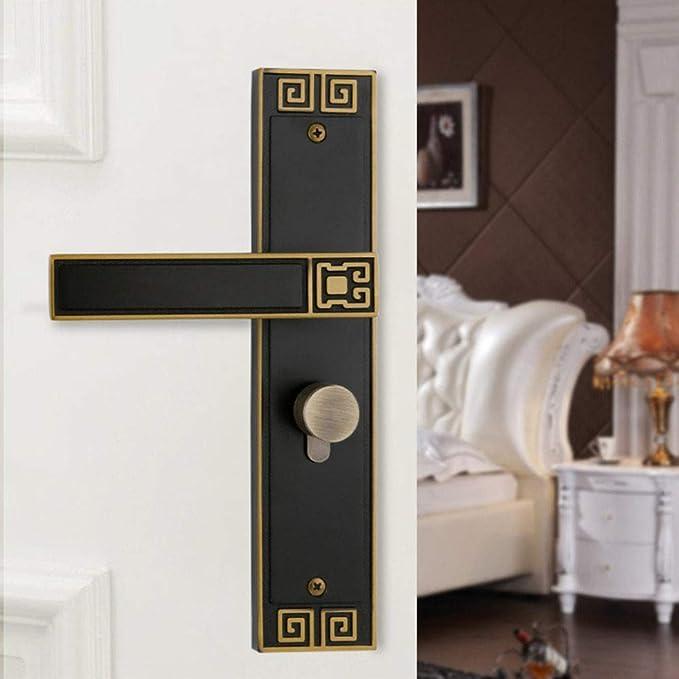 ADGSSJ Moda moderna oro cepillado Cerradura de puerta de silencio ...