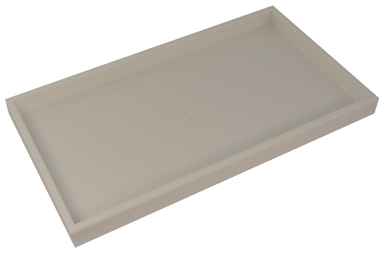 375mm  x 210 mm, 2,5 cm de profundidad Boxdisplays BD1-1PW Bandeja apilable de pl/ástico color blanco