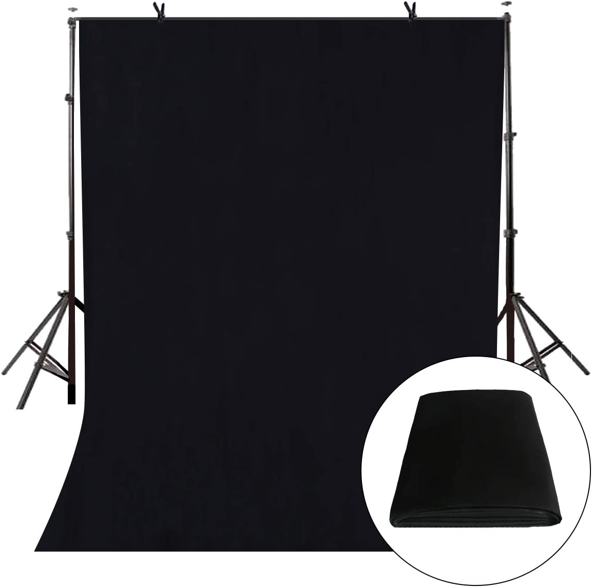 LYLYCTY Black Screen Key 5x7ft Backdrop Soft Pure White Studio Background ID Photo Photography Backdrop Photo Backdrops Customized Studio Photography Backdrop Background Studio Props LY165