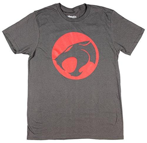 Thundercats Logo Mens Tee, Charcoal, Small ()