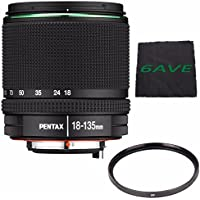 Pentax SMC DA 18-135mm F/3.5-5.6 ED AL (IF) DC WR Lens + UV Filter + MicroFiber Cloth 6AVE Bundle