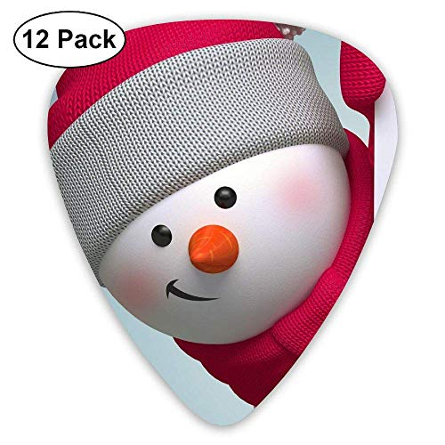 gahjdfxiaoning Cute Merry Christmas Snowmen Acoustic Guitar Pick Accessories Variety Pack -