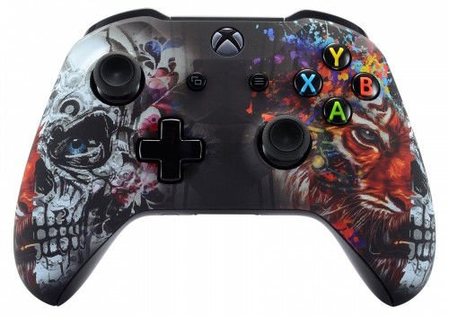 Tiger Skull Xbox One S/X Rapid Fire Custom Modded Controller 40 Mods for All Major Shooter Games (with 3.5 Jack)