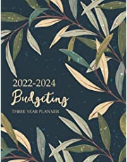 2022-2024 Three Year Budgeting Planner: Leaves Vintage, Daily Weekly Monthly Budget Workbook, Bill Organizer Expense Saving Tracker, Money Management for Personal Family Business, Financial Notebook