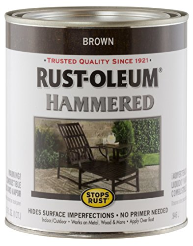 (Rust-Oleum 239073 Hammered Metal Finish, Brown, 1-Quart (Packaging may vary))