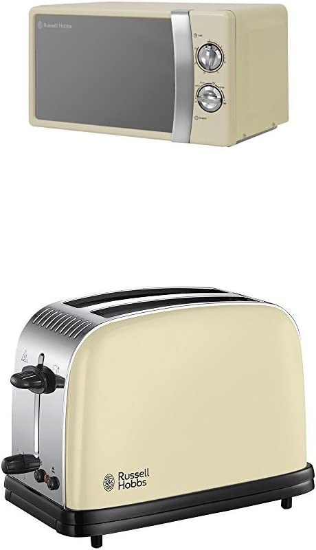Russell Hobbs 23334 Colours Plus Toaster 2 slice Cream Brand New Box Damaged