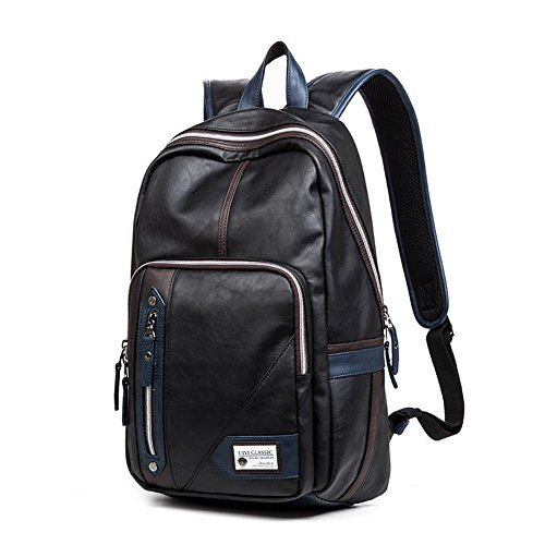 Leather Motorcycle Backpack - 9