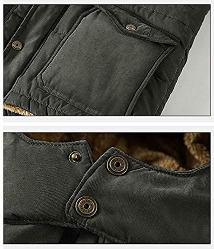 couleur Décontracté 7xl À Costumes Hommes Brown Amovible Et Avec Manteau Taille Épais Décontracté Brown Pour Militaire Capuche Hyvaluable Vestons xzP6xT