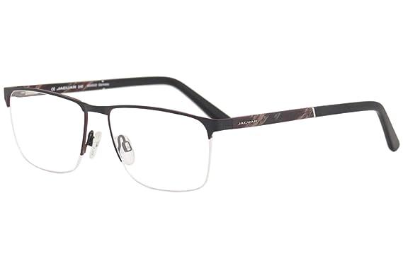 65b6a7a45fdc5 Amazon.com  Jaguar Eyeglasses 33089 1112 Black Burgundy Horn Half ...