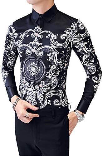 IYFBXl Camisa de algodón de Talla Grande para Hombres - Tribal/Manga Larga, Negro, XXXL: Amazon.es: Deportes y aire libre