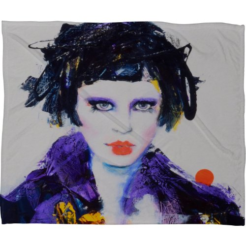 Deny Designs Lana Greben China Doll Fleece Throw Blanket, 30 x 40