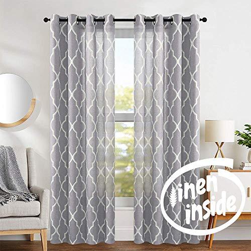 jinchan Grey Moroccan Curtains