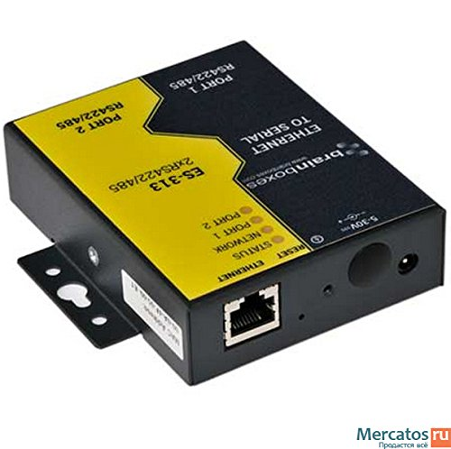 Brainboxes ES-313 2PORT RS422/485 ETHERNET TO SERIAL DEVICE SERVER 1 MEGABAUD by Brainboxes