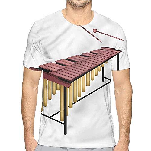 t Shirt for Men Marimba,Wooden Beaters Percussion Custom t Shirt - Marimba Custom
