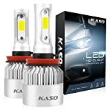 #10: H11 LED Headlight Bulbs - KASO All-in-One Conversion Kit H8 H9 8000LM 72W/Set 6500K Cool White Highly Waterproof 3 Years Warranty (H11 H8 H9)