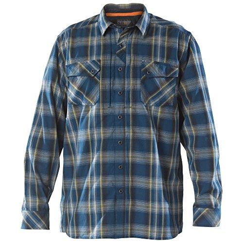 5.11 Camisa de manga larga de franela para hombre