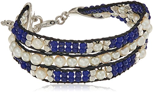 - Lucky Brand Twisted Pearl And Blue Bracelet