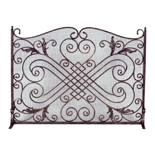 Copper/ Black Arched Panel Screen - 33 inch