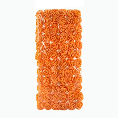 Dds5391 Refined 72Pcs Colorfast Foam Roses Artificial Flower Head Wedding Bride Party Home Decor - Orange from dds5391
