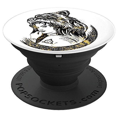 Indian Girl In A Bear Skin Hat - PopSockets Grip and Stand for Phones and Tablets