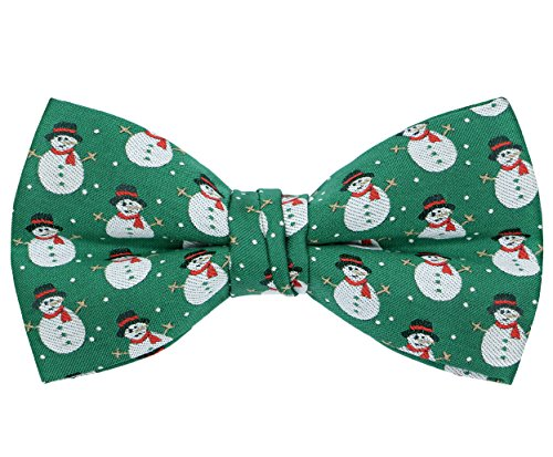 (OCIA Christmas Pattern Bow Tie Santa Snowman Deer Holiday Bowtie)