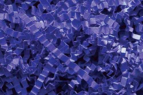Blue Gift Basket (Crinkle Cut Paper Shred Filler (1 LB) for Gift Wrapping & Basket Filling - Royal Blue | MagicWater Supply)