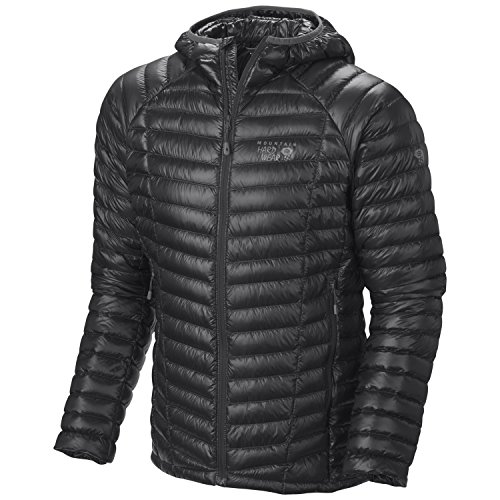 Mountain Hardwear Ghost Whisperer Down Hooded Jacket - Men's Black Large