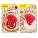 Talisman Designs Pastry Wheel Decorator and Cutter, Set of 2
