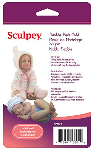 - Polyform APM-72 Sculpey Flexible Push Mold, Infant Doll