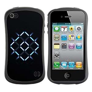 Suave TPU GEL Carcasa Funda Silicona Blando Estuche Caso de protección (para) Apple Iphone 4 / 4S / CECELL Phone case / / Neon X Cross /