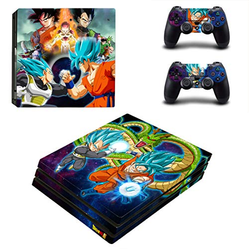 Adventure Games PS4 PRO - Dragonball Z - Playstation 4 Vinyl Console Skin Decal Sticker + 2 Controller Skins Set (Best Dragon Ball Psp Game)